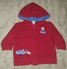 BABY BOYS Sz 00 red blue & white TARGET hooded jacket AUTO REPAIR! CUTE! COOL!