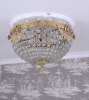 Deckenlampe Antik Lüster Deckenleuchte Kristalllampe Hängeleuchte M