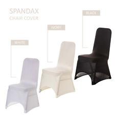 SpandexChair CoversWedding Banquet Birthday Party Home DecorBlack Ivory White