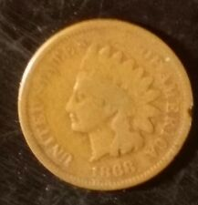 1868 Indian Head cent for your indian head penny collection semi key date GOOD