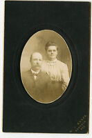 Vintage Matted Photo-WATER Family, Wisconsin, Man W/Moustache & Lady W/Glasses
