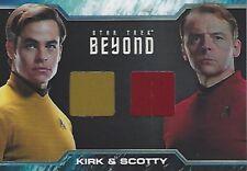 Star Trek Beyond DC3 Dual Costume Card Worn by Chris Pine and Simon Pegg
