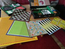 Große Spielesammlung im Koffer, 17 Brettspiele/Kartenspiele + mehr. Selten!