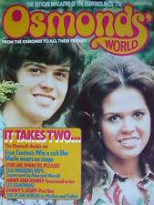 OSMONDS WORLD MAGAZINE ISSUE 25 NOV 1975 - (OSMONDS POSTER!)
