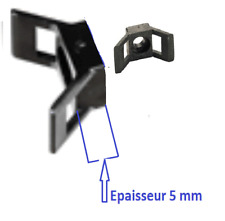 Linder Lot de 50 mini rubans de pr/éhension en tissu Blanc neutre 25 mm Pinces phosphat/ées