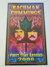 Bachman Cummings First Time Around Concert Tour Poster 2006 Bob Masse