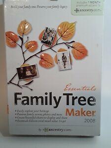 Ancestry.Com Essentials Family Tree Maker 2008 Windows Vista