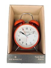 NewGate Twin Bell Alarm Clock | Red /British Design New In B