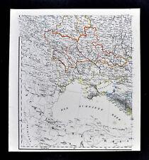 1847 Flemming Map - Black Sea Russia Crimea Ukraine Odessa Constantinople Turkey
