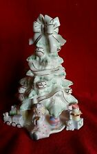 Vtg Lenox Christmas Tree Porcelain Holiday Centerpiece Fine Gifts Presents Doll