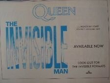 QUEEN Invisible Man 1989 UK  Press ADVERT 12x8 inches