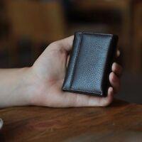 Neu Herren Leder Kleine Brieftasche Geldbörse Kartenetui Geldbeutel Portemonnaie