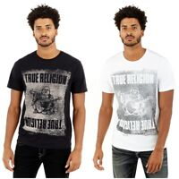 True Religion Men's Buddha Pushprint Crew Neck Tee T-Shirt