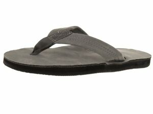 Women Rainbow 301ALTS Leather Grey Single Layer Wide Strap 100% Original New