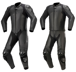 Alpinestars GP Plus V3 Graphite Motorcycle Motorbike 1 Piece Leather Suit Black