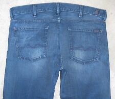 7 For all Mankind Jeans Mens Bootcut Straight Dark Distressed Sz 38 X 28