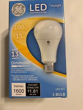 GE LED Daylight Bulb 15 Watt 100 Watt Replacement A21 Dimmable NEW in box