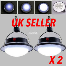 2pcs Ultra Bright Rechargeable LED Camping Tent Light Lantern Fishing Lamp UK