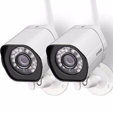 Zmodo 2 720p HD IP Wireless Network IR-cut Outdoor Indoor Home Security Camera
