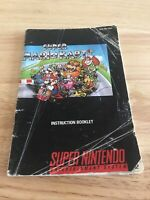 Super Mario Kart Super Nintendo SNES Instruction Booklet Manual Only