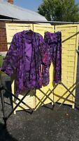 Woman's Handmade 3 Piece Purple Tie Dye Tribal Hippie African Style Lot Outfit