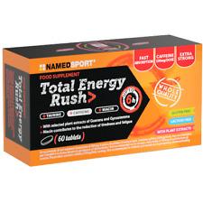 Total Energy Rush 60 cpr Named Sport Energetico con Guaranà Caffeina e Taurina