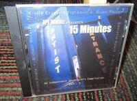 JPF MUSIC: 15 MINUTES-INDEPENDENT SONGWRITER'S COMPILATION VOL.1 MUSIC CD, 12 TR