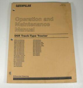 CAT Caterpillar D6R Operation Maintenance Manual Book Track Type Tractor Dozer