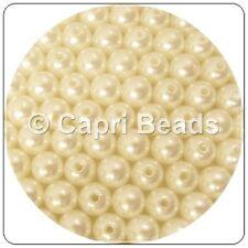 25 X 12 Mm Marfil Acrílico cuentas de perla, la fabricación de joyas, Pulseras, Aretes