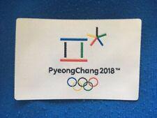 2018 PYEONGCHANG KOREA WINTER Olympic Games souvenir OFFICIAL PATCH BADGE PIN