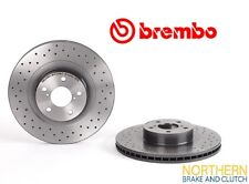 GENUINE BREMBO X-DRILLED FRONT ROTORS suit SUBARU WRX 1998 TO 2007 294mm