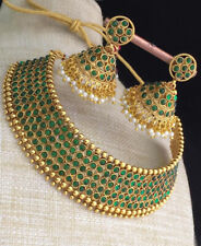 Indian Bollywood Choker Necklace Green Fashion Jewelry Party Wedding Bridal