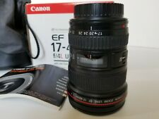 Canon EF 17-40mm f/4 L USM Lens, filter, box, pouch. Hardly used