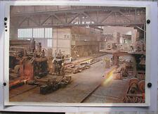 Sublime Tableau Mural Im Walzwerk Stahl-Zieherei 92x64cm ~1958 Vintage Rolling