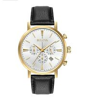 Reloj Cronógrafo Bulova Para Hombres De Diseñador-Oro Clásico Aerojet 97B155
