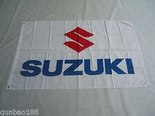 Brand New SUZUKI Flag Car Racing Banner Flags 3ft x 5ft 90x150cm White