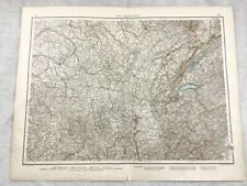 1899 Antique Map of France Eastern Provinces Original 19th Century GERMAN