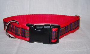 macdonald scottish red tartan dog collar or lead or complete set