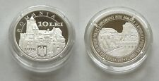 ROMANIA BRAN DRACULA CASTLE CHINA GREAT WALL 10 LEI 2019 SILVER COIN UNC PROOF