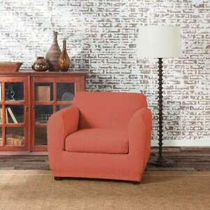 sure fit Stretch Tribal Chair Slipcover protector meca orange