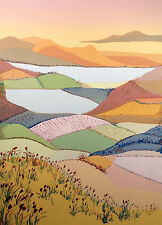 """Tricia Cheek-Law """"Equinox Uno"""" Hand Signed & Numbered Serigraph Art landscape"""