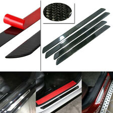 4pcs 60CM+48CM Carbon Fiber Car Scuff Plate Door Sill Cover Panel Step Protector