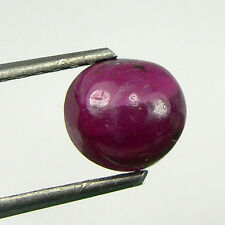 1.39 carat 6mm Off Round Cabochon Cut Natural Ruby Loose Gemstone - RCb12