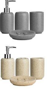 Vintage Lotion Liquid Soap Dispenser, Tumbler, Soap Dish Bathroom Basin Set