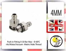 2xPneumatic fittings hose tube push connector M5 4mm tube  Barb vacuum UK SELLER