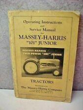Massey Harris Ferguson 101 junior tractor operator instruction & service manual