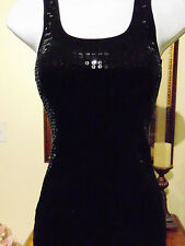 Romeo & Juliet Couture Women's sleeveless Tunic with sequined front Medium