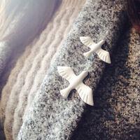 White Dove Enamel & Metal Lapel Pin Badge Lapel Groom Wedding Peace Brooch