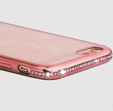 Diamante Bling Glitter a prueba de choques parachoques Gel Suave Carcasa Protectora Para Samsung Mobile