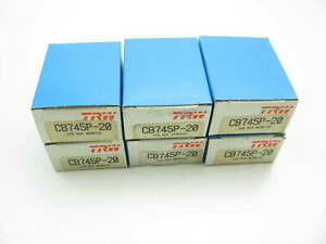 "(6) TRW CB745P-20 Connecting Rod Bearings - .020"" - Chevy GM 230 250 I6"